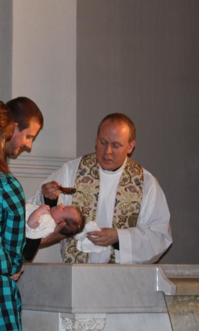 Elsie's baptism